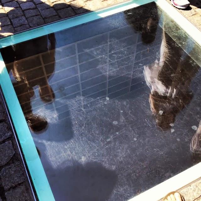 Memorial subterraneo en la universidad de Humboldt