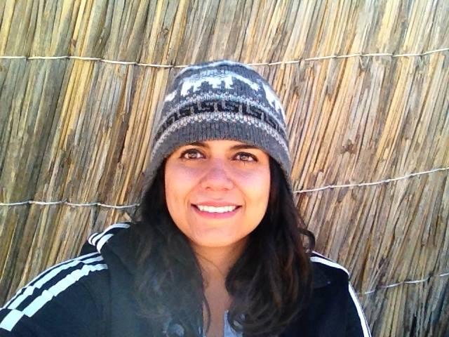 Impresionado de visitar Uros, Perú